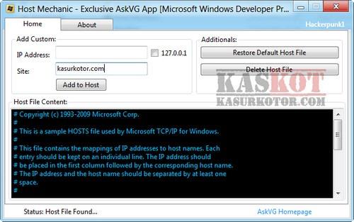 Host Mechanic, Edit Restore Windows Hosts File