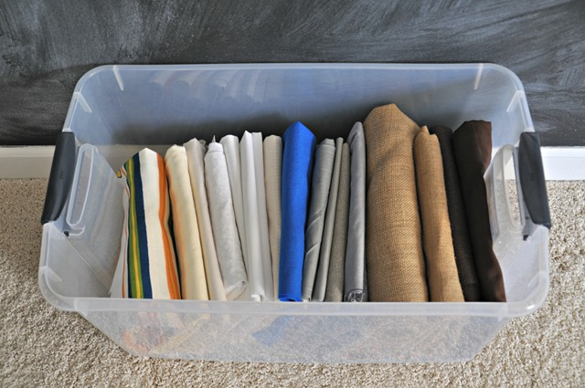 Comic Book Board fabric storage