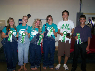 "These three acts advanced to the State Fair including ""Linsey and the Gee-Geez "" with a vocal and band performance with senior 4-H members Lauren Roberts, Johannah Vittetoe, Lindsey Turner, Sydney Greiner.  Jonah Van Roekel, of the Kalona Klassics, will share his yo-yo routine and Grant Hill, of the 76 Progressives, will perform his piano solo ""Ragtime Meets Classical.""  Photo courtesy:  Washington County Extension"