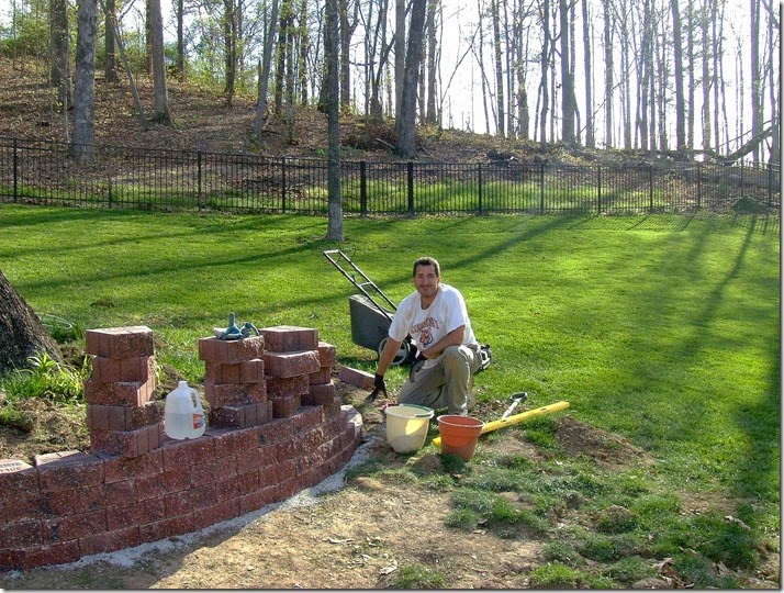 Backyard Project Retaining Wall