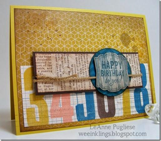 LeAnne Pugliese WeeInklings Label Love Birthday FMS Stampin UP