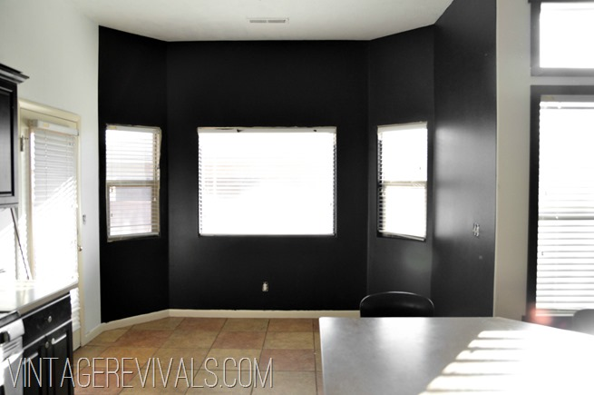 Black Painted Room Ideas black that wall up - vintage revivals