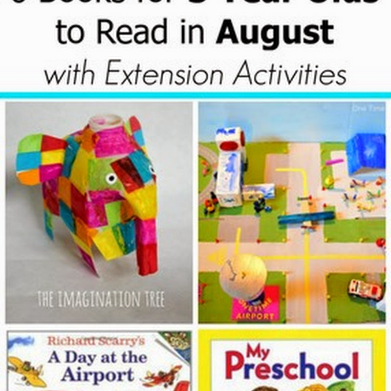 6 August Books for 2 and 3 Year Olds