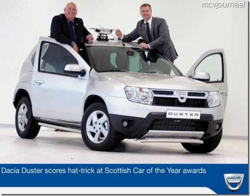 Dacia Duster auto van het jaar in Schotland 01