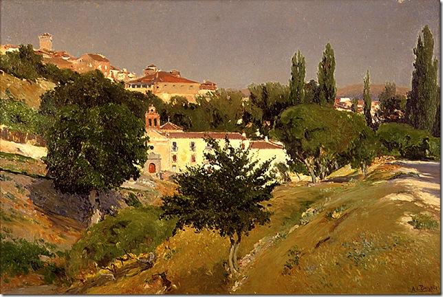 Aureliano de Beruete y Moret - Paisaje-con-el-Convento-de-Santo-Espiritu-de-Segovia