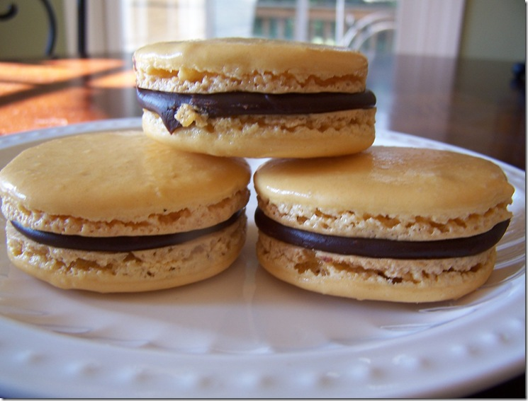 Orange Chocolate Macarons 004