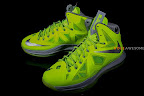 nike lebron 10 gr atomic volt dunkman 2 10 Upcoming Nike LeBron X   Volt Dunkman   New Photos