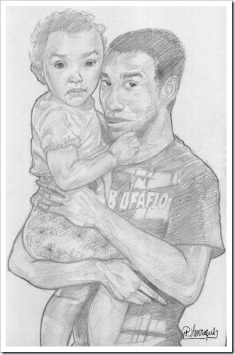 Desenho artístico Dia dos Pais (P)
