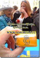 20130915_171041 (1)  Kung Carl XVI Gustaf 40 årsjubileum. Bakelse. Med amorism