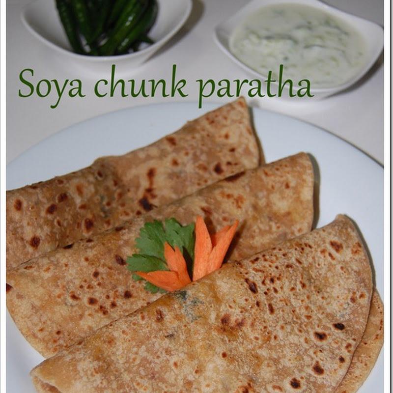 Soya chunk paratha