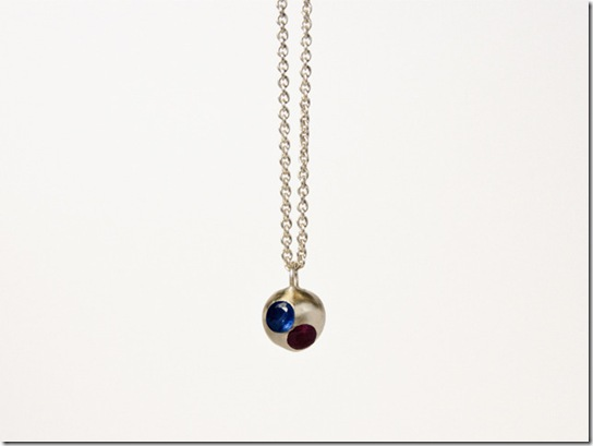 Floating Gems Ball Necklace 1