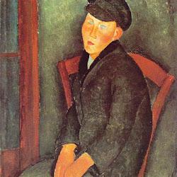 Modigliani, Ragazzo seduto con berretto.jpg