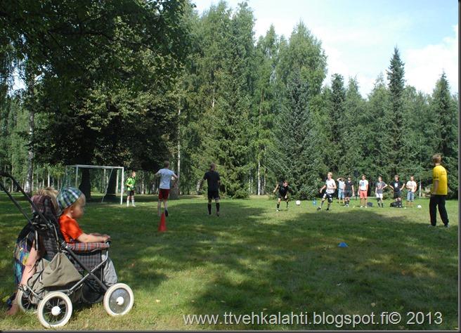 kirjurinluoto puisto potkupallo Marko ja heli maalareina 064