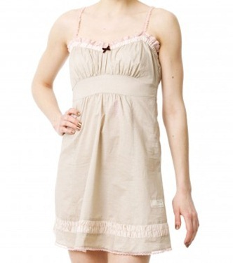 Plath strap dress v chalk
