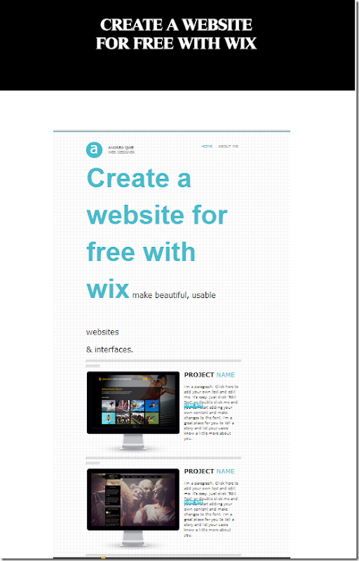 create a website free with wix