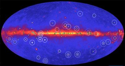 imagem do mapa interativo Fermi Pulsar Explorer