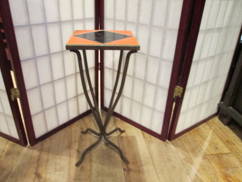 Orange/Black Petite Sidetable