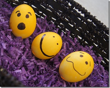 Silly Faces Easter Eggs