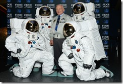 NEW YORK, NY - JANUARY 09:  Space Pioneer Buzz Aldrin announces AXE to Send 22 Guys to Space with New Apollo Campaign at American Museum of Natural History on January 9, 2013 in New York City.  (Photo by Eugene Gologursky/Getty Images for AXE)