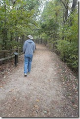 Pete walking the old  Natchez Trace