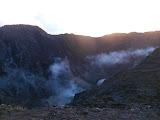 First light on Ciremai crater rim (Dan Quinn, April 2013)