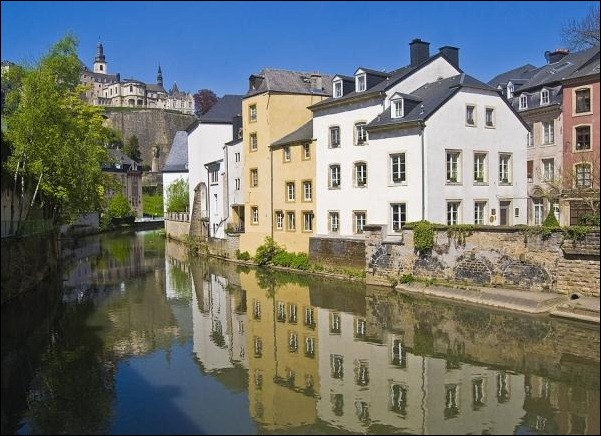 11. Luxembourg, Grand Duchy of Luxembourg reflection in water