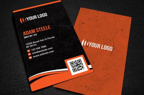 Rounded Corner Business Card Design