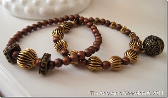 Copper and Gold Bracelets