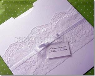 9 convite casamento renda