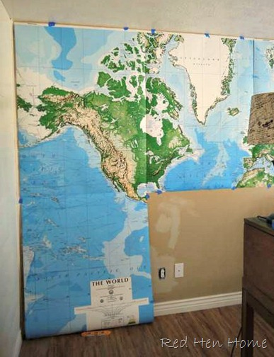 Red hen home office project map wall target map mural wall gumiabroncs Images
