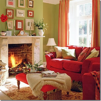 Sage-green-and-red-living-room-with-fireplace