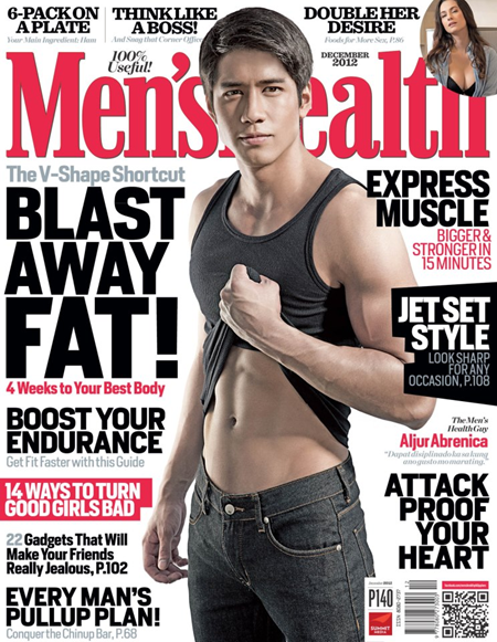 Aljur Abrenica covers Men&#39;s Health Ph Dec 2012