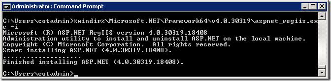 Installing ASP.NET 4.0.