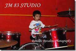 Violino Ridho Putra Belajar Drum di JM 83 Studio 2
