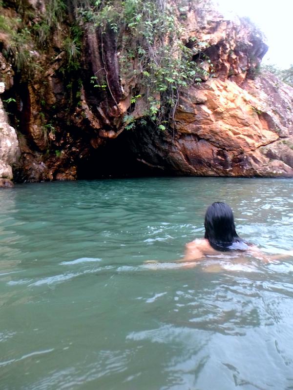 Cachoeira poço azul