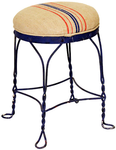 Stools are necessary for any outdoor bar. Decorate yours with these rustic striped stools. (abchome.com)