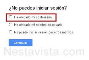 no puedo iniciar sesion en gmail
