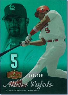 2006 Flair Showcase Pujols Emerald 91 of 150