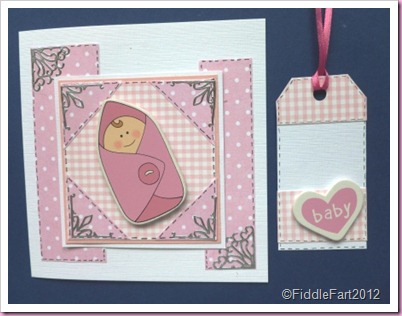 Baby Girl card and Tag