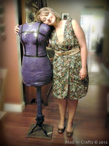 millie the duct tape dress form