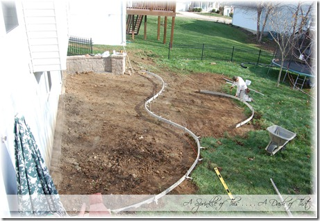 Stamped concrete patio forms {A Sprinkle of This . . . . A Dash of That}