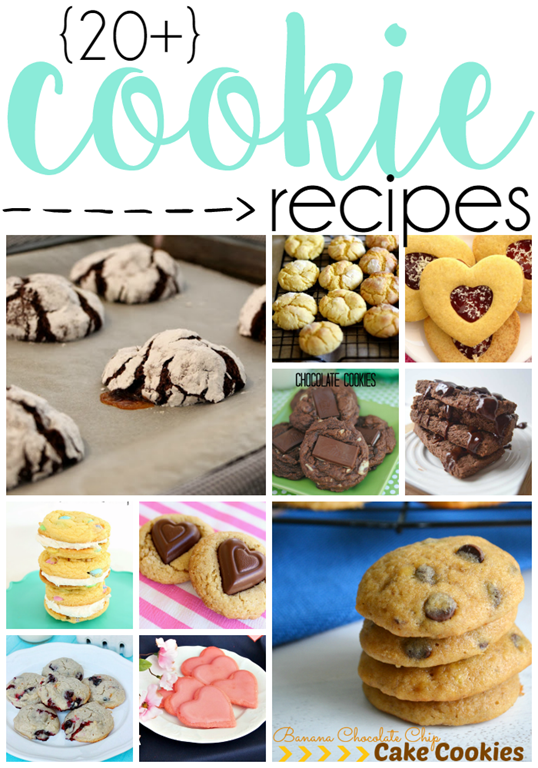 Over 20 Cookie Recipes at GingerSnapCrafts.com #cookies #recipes #linkparty #features