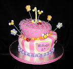 Whimsical girls cake