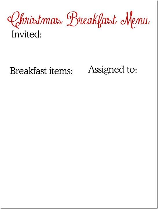 Christmas breakfast menu copy