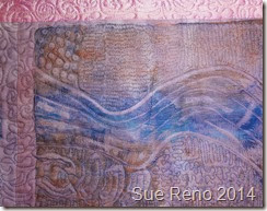 If I Woke at Dawn, a work in progress by Sue Reno,m detail 5