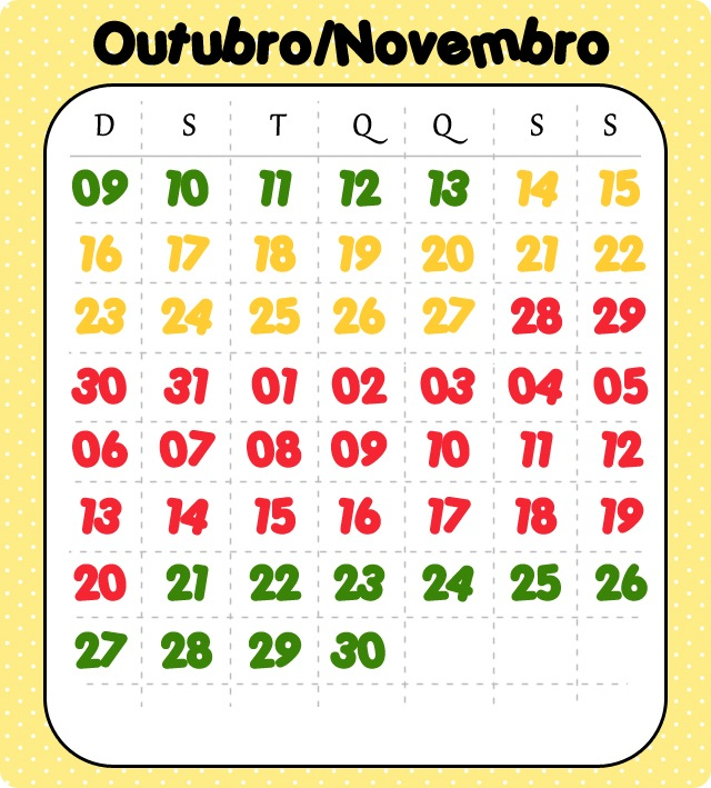 Calendário Ferias