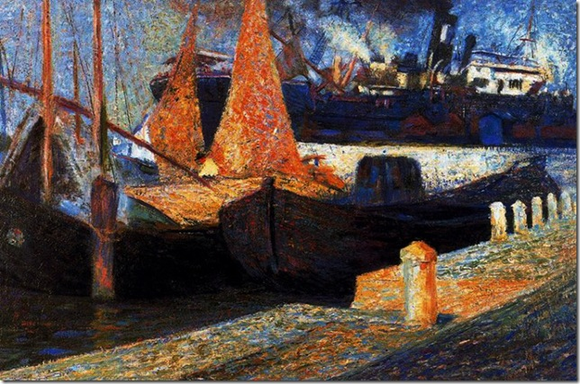 Umberto Boccioni_Botes en Sunlught (1907)