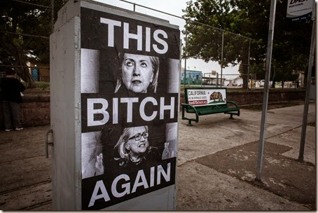 Hillary Clinton Appears Arlington and Adams Syphilis Bitch