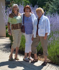 Gayle, Sue, and Mo after that first wine flight