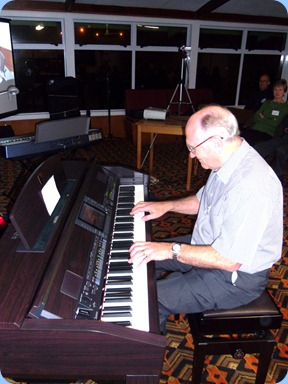 Alan Dadson play played the Club's Clavinova both for the arrival music and then played a double slot for us in the main programme. Alan made good use of the terrific styles built into the Clavinvoa.